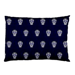 Skull Pattern Blue  Pillow Cases (Two Sides)