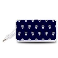 Skull Pattern Blue  Portable Speaker (White)