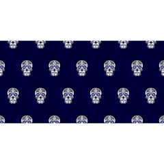 Skull Pattern Blue  You Are Invited 3d Greeting Card (8x4)