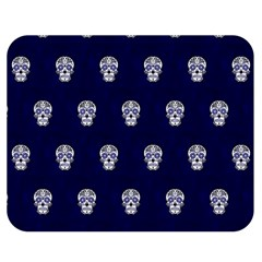 Skull Pattern Blue  Double Sided Flano Blanket (medium)