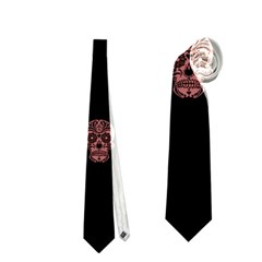 Skull Pattern Pink  Neckties (two Side)