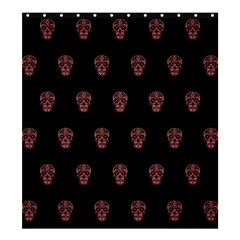 Skull Pattern Pink  Shower Curtain 66  x 72  (Large)