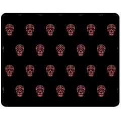 Skull Pattern Pink  Fleece Blanket (Medium)