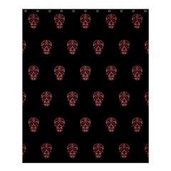 Skull Pattern Pink  Shower Curtain 60  X 72  (medium)