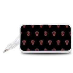 Skull Pattern Pink  Portable Speaker (white)
