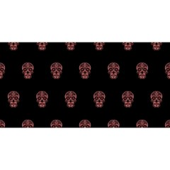 Skull Pattern Pink  You Are Invited 3d Greeting Card (8x4)