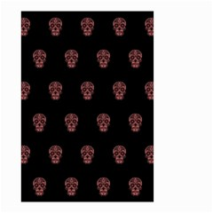 Skull Pattern Pink  Small Garden Flag (two Sides)