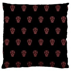 Skull Pattern Pink  Standard Flano Cushion Cases (two Sides)