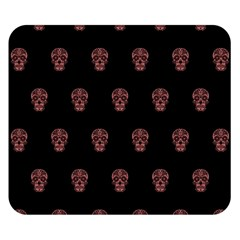 Skull Pattern Pink  Double Sided Flano Blanket (Small)