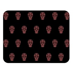 Skull Pattern Pink  Double Sided Flano Blanket (Large)