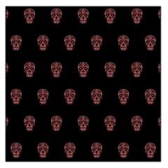 Skull Pattern Pink  Large Satin Scarf (square)