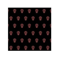 Skull Pattern Pink  Small Satin Scarf (square)