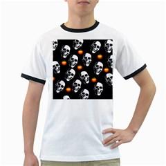 Skulls And Pumpkins Ringer T Shirts