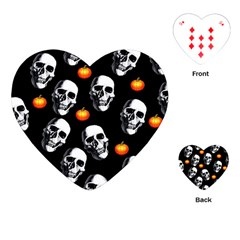 Skulls And Pumpkins Playing Cards (Heart)