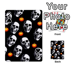 Skulls And Pumpkins Playing Cards 54 Designs