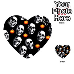 Skulls And Pumpkins Playing Cards 54 (Heart)
