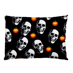 Skulls And Pumpkins Pillow Cases
