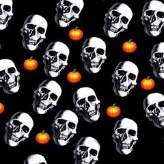 Skulls And Pumpkins Magic Photo Cubes
