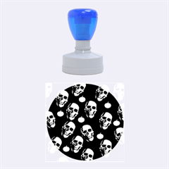 Skulls And Pumpkins Rubber Round Stamps (medium)