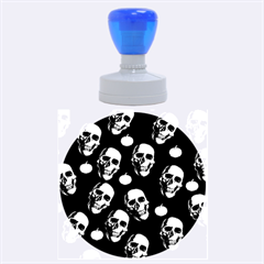 Skulls And Pumpkins Rubber Round Stamps (large)