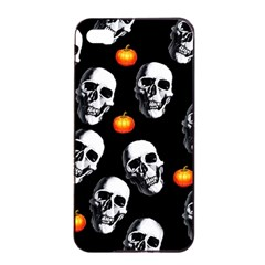 Skulls And Pumpkins Apple iPhone 4/4s Seamless Case (Black)