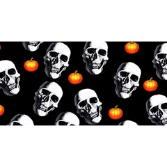 Skulls And Pumpkins YOU ARE INVITED 3D Greeting Card (8x4)