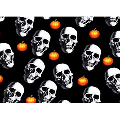 Skulls And Pumpkins Birthday Cake 3D Greeting Card (7x5)