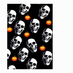 Skulls And Pumpkins Small Garden Flag (Two Sides)