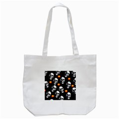 Skulls And Pumpkins Tote Bag (white)