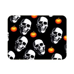 Skulls And Pumpkins Double Sided Flano Blanket (mini)