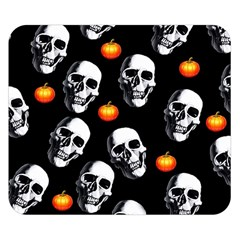 Skulls And Pumpkins Double Sided Flano Blanket (Small)