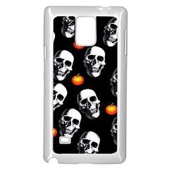 Skulls And Pumpkins Samsung Galaxy Note 4 Case (White)
