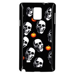 Skulls And Pumpkins Samsung Galaxy Note 4 Case (Black)