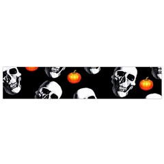 Skulls And Pumpkins Flano Scarf (Small)