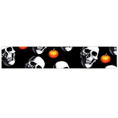 Skulls And Pumpkins Flano Scarf (Large)