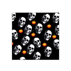 Skulls And Pumpkins Satin Bandana Scarf