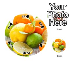 Citrus Fruits Playing Cards 54 (Round)