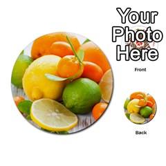 Citrus Fruits Multi Purpose Cards (round)
