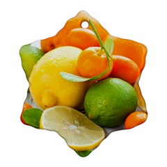 Citrus Fruits Snowflake Ornament (2-Side)