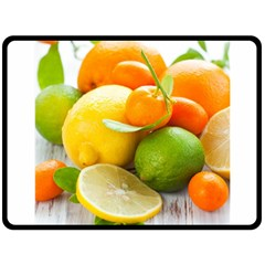 Citrus Fruits Double Sided Fleece Blanket (large)