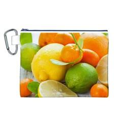 Citrus Fruits Canvas Cosmetic Bag (L)