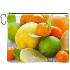 Citrus Fruits Canvas Cosmetic Bag (XXXL)