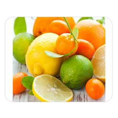 Citrus Fruits Double Sided Flano Blanket (Large)