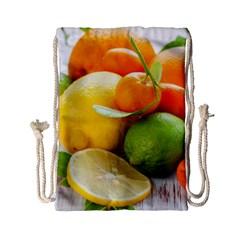 Citrus Fruits Drawstring Bag (small)