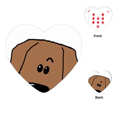 Peeping Dachshund Playing Cards (heart)
