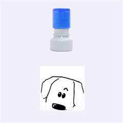 Peeping Dachshund Rubber Round Stamps (Small)