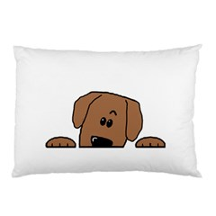Peeping Dachshund Pillow Cases (Two Sides)