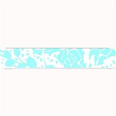 Floral Wallpaper Aqua Small Bar Mats