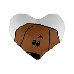 Peeping Dachshund Standard 16  Premium Flano Heart Shape Cushions