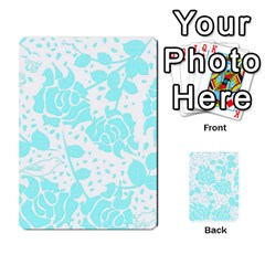 Floral Wallpaper Aqua Multi-purpose Cards (Rectangle)
